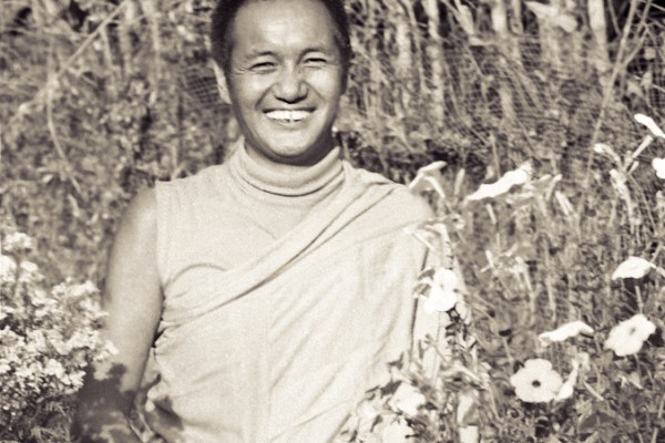 Portrait of Lama Yeshe taken at Kopan Monastery at the end of the first meditation course, Nepal, 1971. Photo by Fred von Allmen.